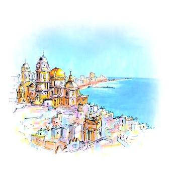 スペイン、アンダルシア、カディスの大聖堂