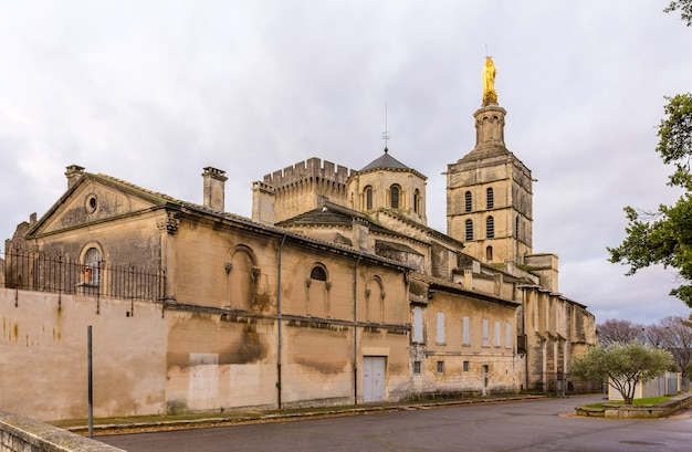 Собор нотр-дам-де-дом авиньона во франции