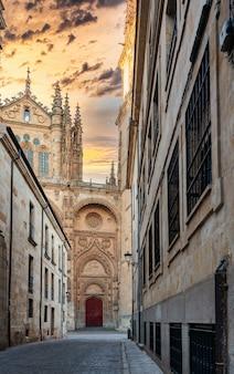Cathedral of salamanca spain at sunrise