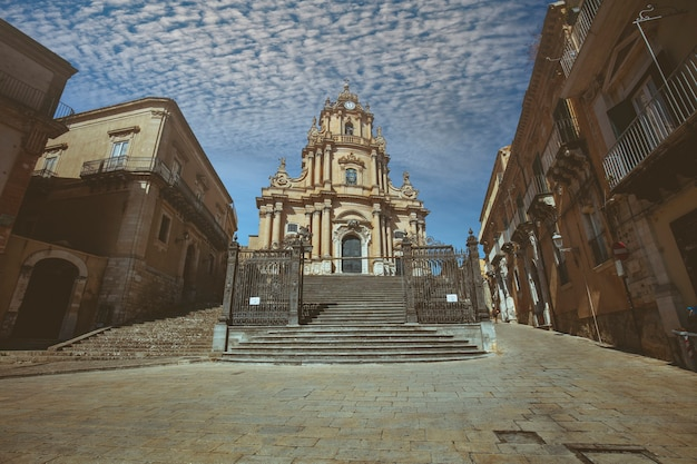 Cathedral of san giorgio in ragusa sicily. italy
