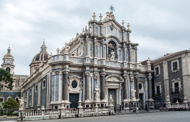 Cathedral of santa agatha in catania, sicily, italy