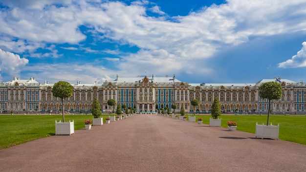 Catherine palace, located in the town of tsarskoye selo (pushkin), st. petersburg, russia