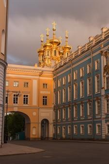 Екатерининский дворец под пасмурным небом