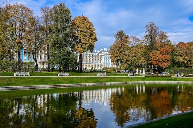 エカテリーナ宮殿。ロシア建築の傑作。プーシキンの街。