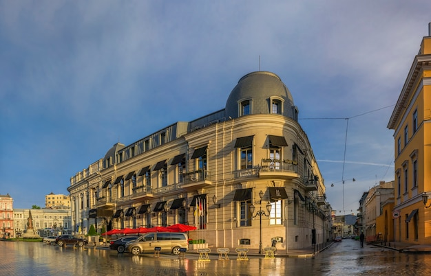 Catherine square and hotel paris in odessa