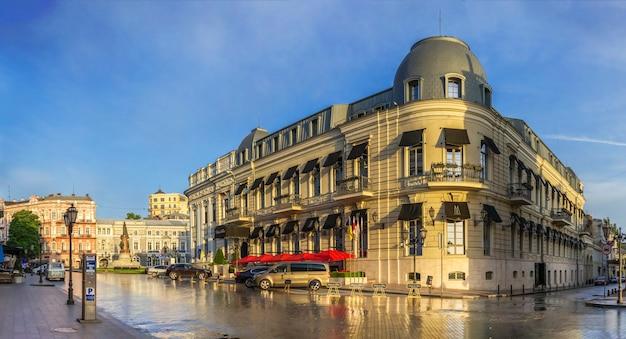 Catherine square and hotel paris in odessa
