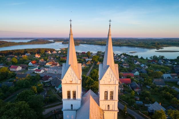 Slabodka의 가톨릭 교회, 국립 공원 braslau lakes, 벨로루시