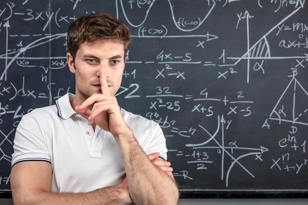 Caucasian teacher portrait