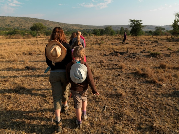 Caucasian tourists in kenya africa