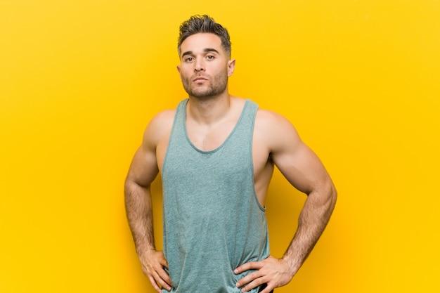 Caucasian trainer man posing