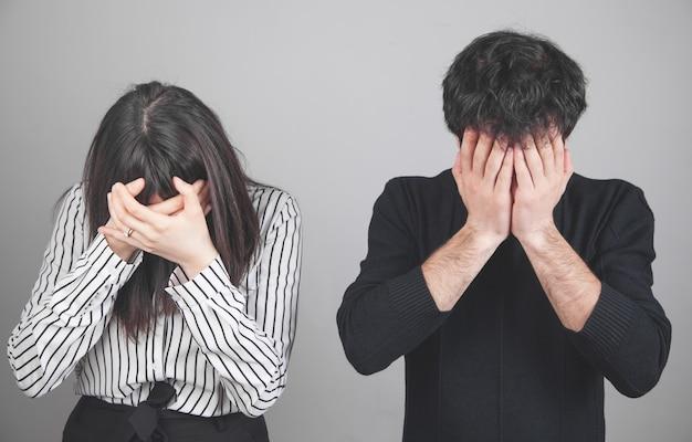 Caucasian upset couple. relationship problems
