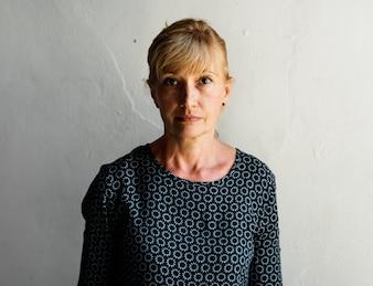 Caucasian woman portrait