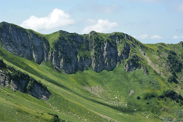 The caucasus mountains near rosa khutor, sochi, russia