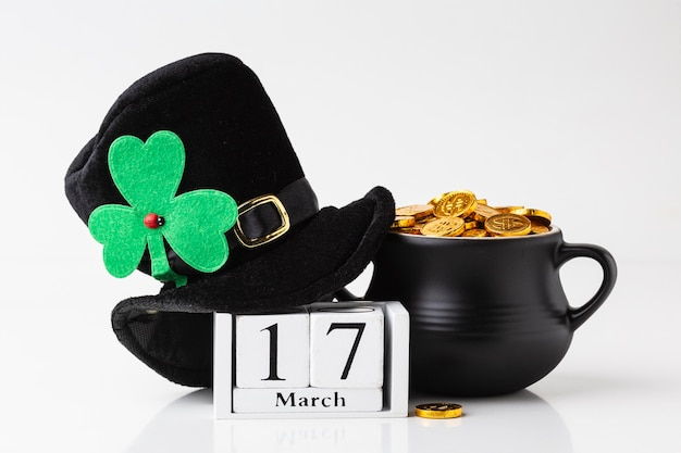 Cauldron and hat for st patrick day