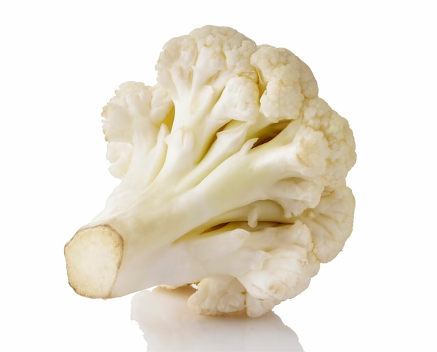 Cauliflower isolated on a white background. fresh organic vegetables.