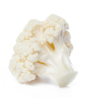 Cauliflower. piece isolated on white.