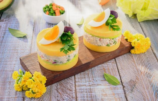 Causa limena - traditional peruvian food