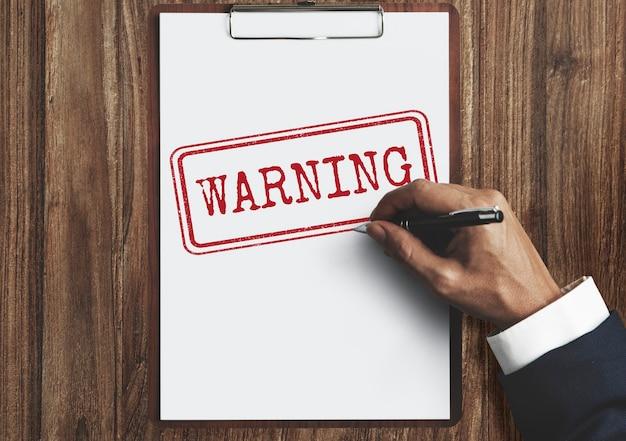 Attenzione negata in attesa rifiutata concetto di avvertimento segreto