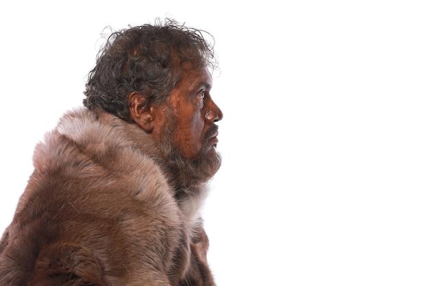 Пещера древнего человека с дубиной ледниковый период