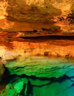ブラジルのバイーア州チャパダディアマンティーナ国立公園の青い洞窟の井戸