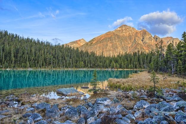 Cavell edith lake canadian rockis alberta canada