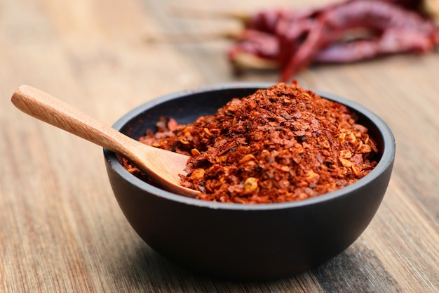 Cayenne pepper with dried