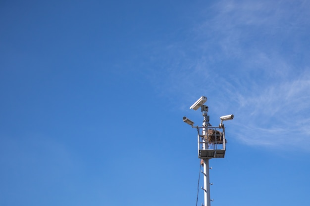Cctv camera and nest