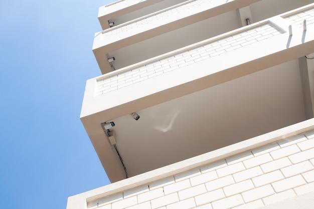 Cctv camera system in apartment building.