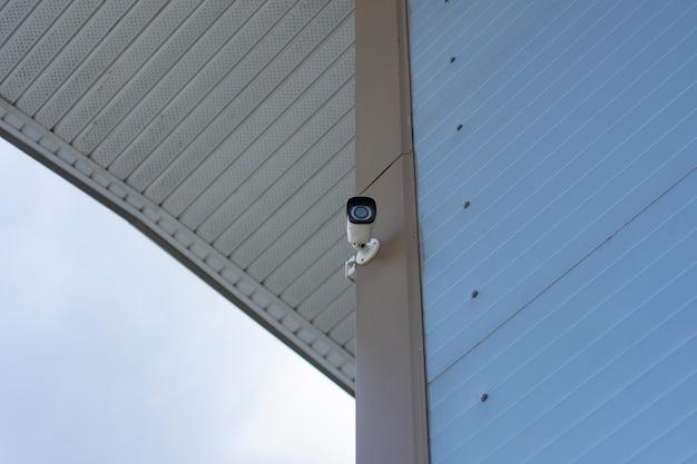 Cctv 모니터링. 물체 보호를 위한 실외 비디오 감시 카메라.