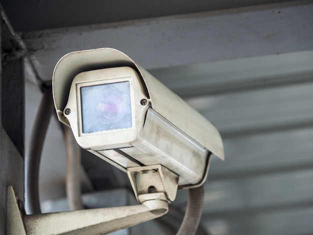 Cctv security camera installed in airport and subway for security guard monitoring
