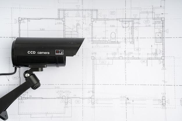 家の計画とcctvセキュリティオンラインカメラ