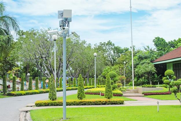 安全のための公共公園用cctv。