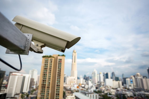 建物のセキュリティカメラと都市ビデオ(cctv)
