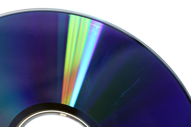 傷付きのcdまたはdvdをクローズアップ、データ損失の概念