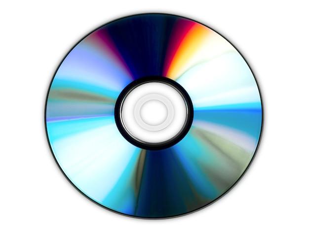 Компакт-диск, изолированные на белом фоне