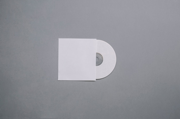 Cd mockup with blank cover