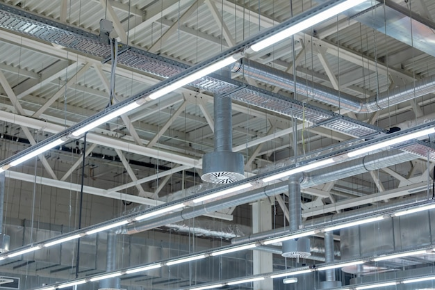 Ceiling air conditioning of the stadium or exhibition hall roof