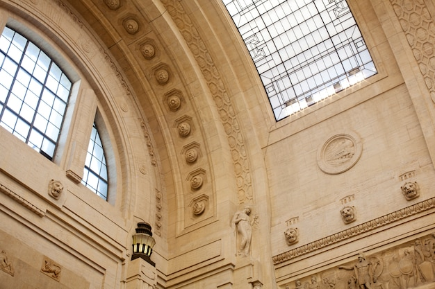 Ceiling, central railway station, milan