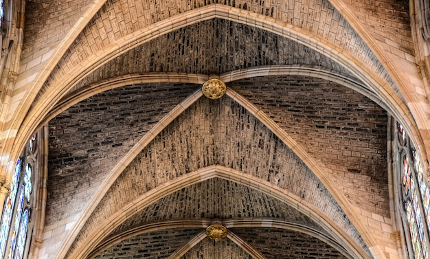 Ceiling details in a cathedral