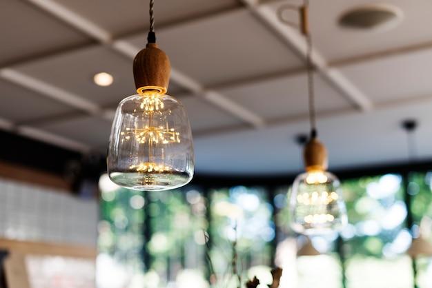 천장 램프 전구 장식 매달려 인테리어