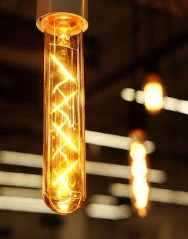 매장의 천장 램프
