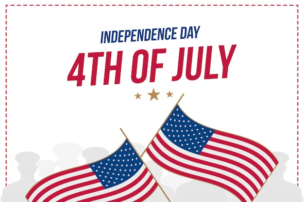 Celebrate happy 4th of july - independence day.