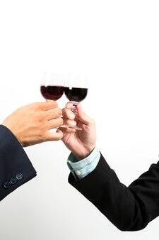 Celebration with wine