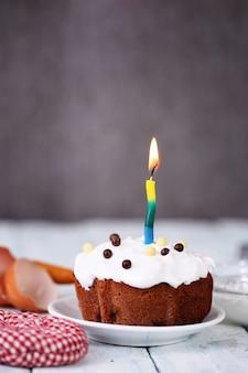 Celebratory cake with cream
