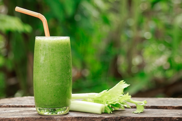 Celery juice in homemade drinking for health