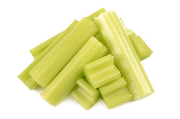 Celery on a white background