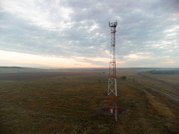 Cell tower in the open area
