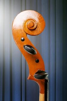Cello classical music tuning peg