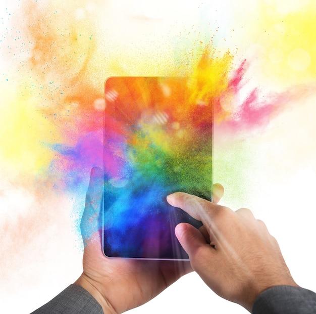 Цветовая вспышка мобильного телефона