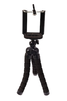 Cellphone tripod isolated on a white background